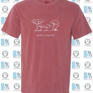 Red comfort colors tshirt